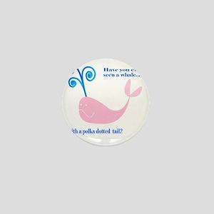 Pink Whale Mini Button