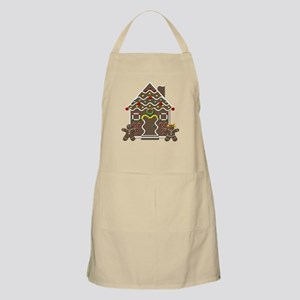Cute Gingerbread House Christmas Apron