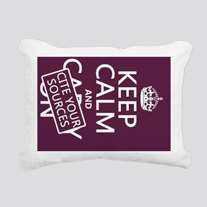 Keep Calm and Cite Your  Rectangular Canvas Pillow