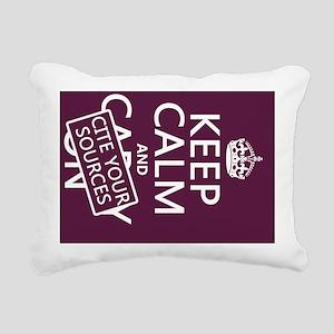 Keep Calm and Cite Your  Rectangular Canvas Pillow