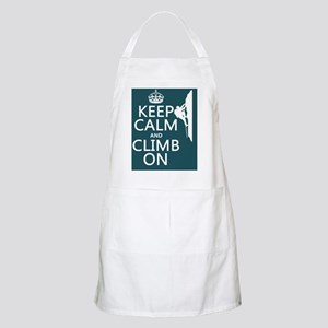 Keep Calm and Climb On Apron