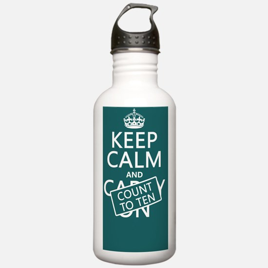 Keep Calm and Count To Water Bottle