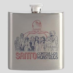 Santo vs the Monsters Flask