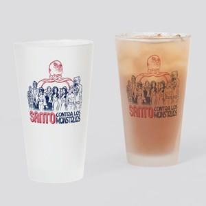 Santo vs the Monsters Drinking Glass