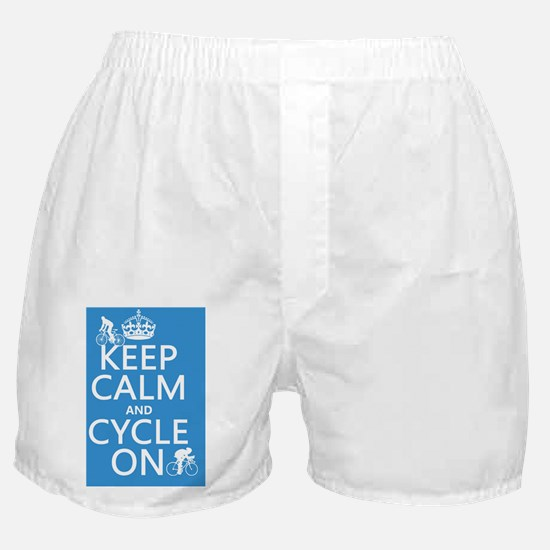 Keep Calm and Cycle On Boxer Shorts