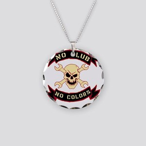 No colours no club Necklace Circle Charm