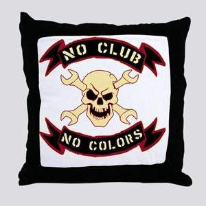 No colours no club Throw Pillow