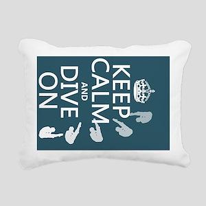 Keep Calm and Dive On Rectangular Canvas Pillow