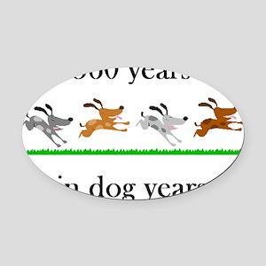 80 birthday dog years 1 Oval Car Magnet