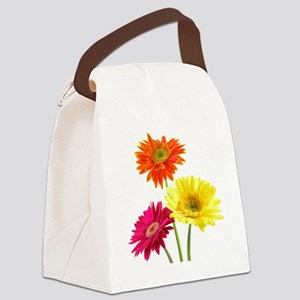 Daisy Gerbera Flowers Canvas Lunch Bag