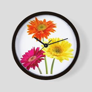 Daisy Gerbera Flowers Wall Clock