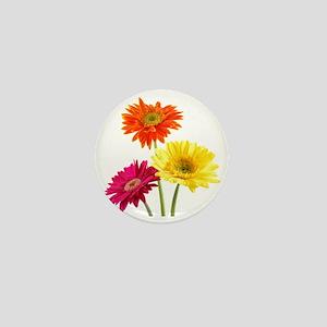 Daisy Gerbera Flowers Mini Button