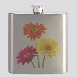 Daisy Gerbera Flowers Flask