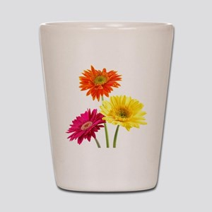 Daisy Gerbera Flowers Shot Glass