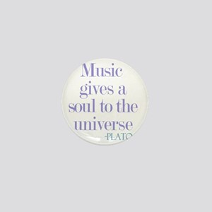 Music gives soul Mini Button