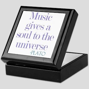 Music gives soul Keepsake Box