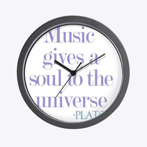 Music gives soul Wall Clock
