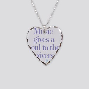 Music gives soul Necklace Heart Charm