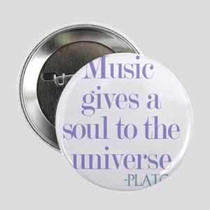 """Music gives soul 2.25"""" Button"""