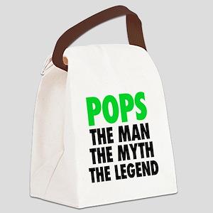 Pops - The Legend - Black Canvas Lunch Bag