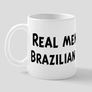 Men eat Brazilian Food Mug