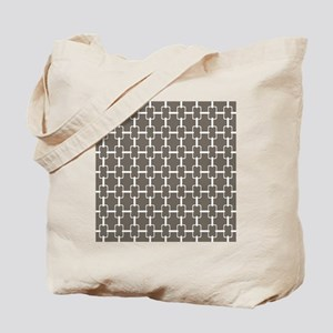 Rectangle Links Sq W Aged Wood Tote Bag