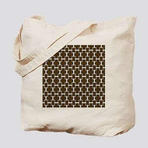 Rectangle Links Sq W Brown Tote Bag