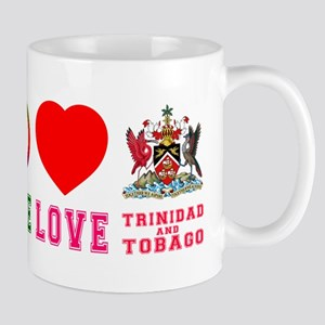 Peace Love Trinidad And Tobago Mug