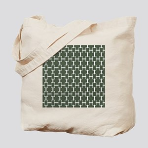 Rectangle Links Sq W Dk Loden Tote Bag
