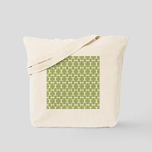 Rectangle Links Sq W Med Olive Tote Bag