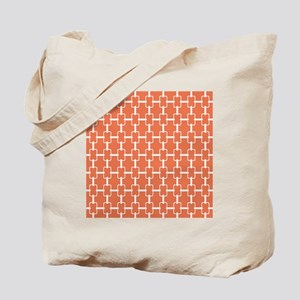 Rectangle Links Sq W Coral Tote Bag