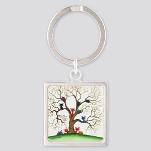 Fayetteville Stray Cats Square Keychain