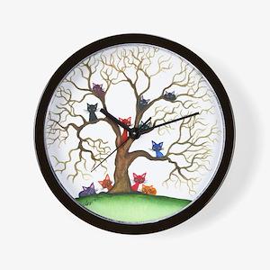Fayetteville Stray Cats Wall Clock