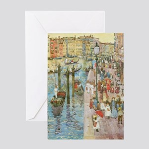 Grand Canal, Venice by Prendergast Greeting Card