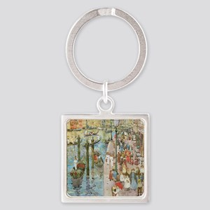 Grand Canal, Venice by Prendergast Square Keychain