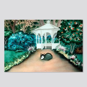 Gazebo Tuxedo Cat Postcards (Package of 8)