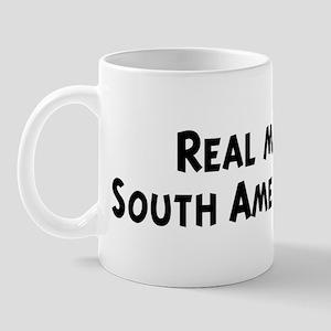 Men eat South American Food Mug