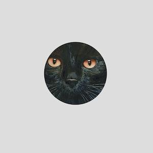 Black Velvet Cat by Lori Alexander Mini Button
