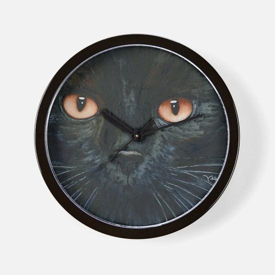Black Velvet Cat by Lori Alexander Wall Clock