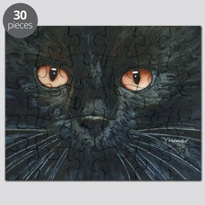 Black Velvet Cat by Lori Alexander Puzzle