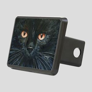 Black Velvet Cat by Lori A Rectangular Hitch Cover