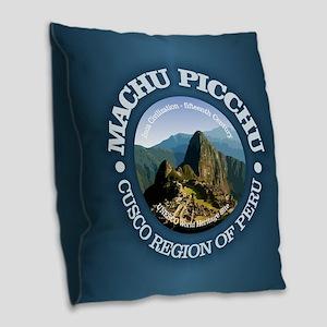 Machu Picchu Burlap Throw Pillow