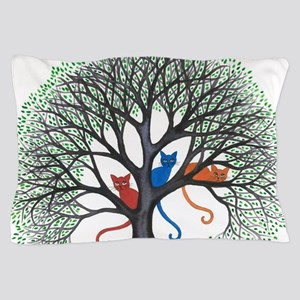 Iowa Stray Cats in Tree by Lori Alexan Pillow Case