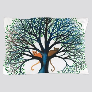 Corozal Stray Cats in Tree by Lori Ale Pillow Case