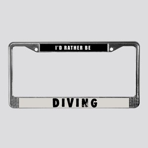 Diving License Plate Frame
