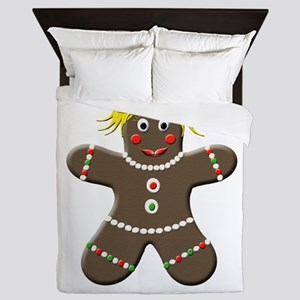 Gingerbread Girl Christmas Queen Duvet