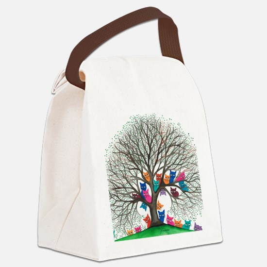 Connecticut Stray Cats in Tree by Canvas Lunch Bag