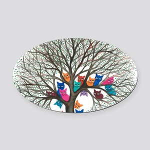Connecticut Stray Cats in Tree by  Oval Car Magnet