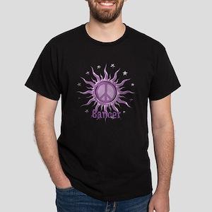 Peace Sun Cancer Dark T-Shirt