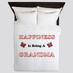 Happiness Is Being A Grandma Queen Duvet